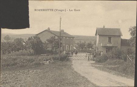 Rozerotte (Vosges), La Gare