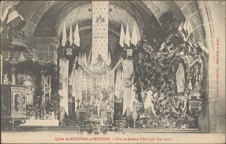 Église de Rozières-sur-Mouzon, Fête de Jeanne d'Arc (28 mai 1911)