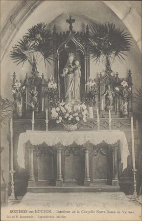 Rozières-sur-Mouzon, Intérieur de la chapelle Notre-Dame de Valrose