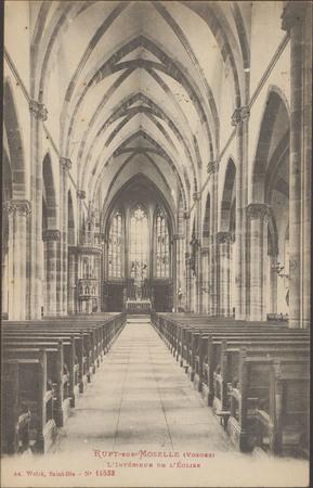 Rupt-sur-Moselle (Vosges), L'Intérieur de l'Église