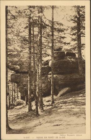 St-Dié, Roche en forêt de St-Dié