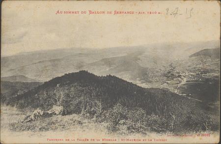 Au sommet du Ballon de Servance, Alt 1210 m., Panorama de la vallée de la …