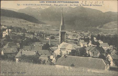 St-Maurice-sur-Moselle, Vue générale, Au fond: le Ballon de Servance