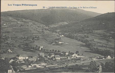 Saint-Maurice, La Gare et le Ballon d'Alsace