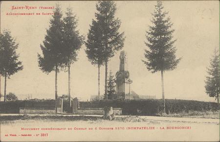 Saint-Rémy (Vosges), Arrondissement de Saint-Dié, Monument commémoratif du…