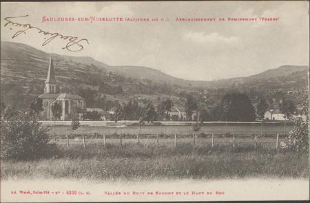 Saint-Rémy (Vosges), Arrondissement de Saint-Dié (Vosges), Vallée du Rupt …