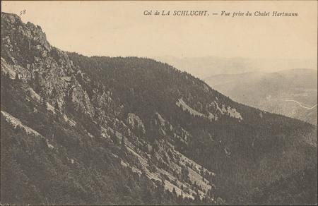 Col de la Schlucht, Vue prise du châlet Hartmann