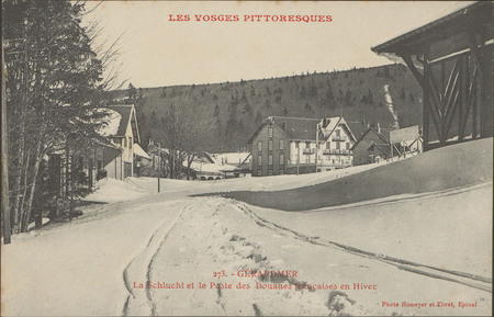 Gérardmer, La Schlucht et le poste des douanes française en hiver