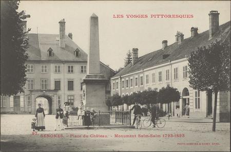Senones, Place du Château, Monument Salm-Salm 1793-1893