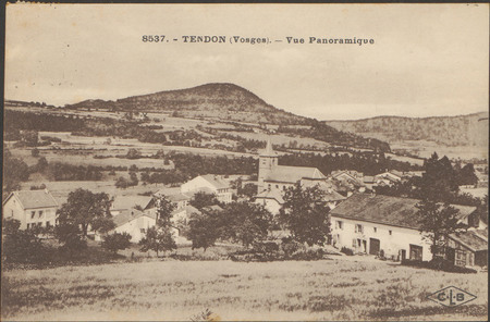 Tendon (Vosges), Vue panoramique