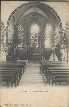 Tendon, Intérieur de l'Église