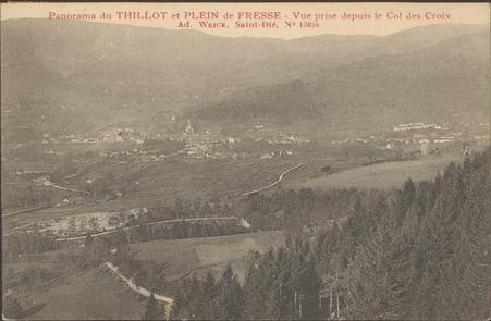 Panorama du Thillot et Plein de Fresse, vue prise depuis le Col des Croix