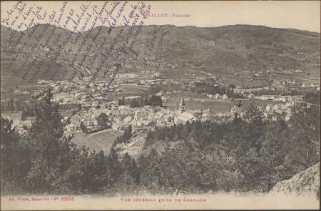 Le Thillot (Vosges), Vue générale prise de Chaillon