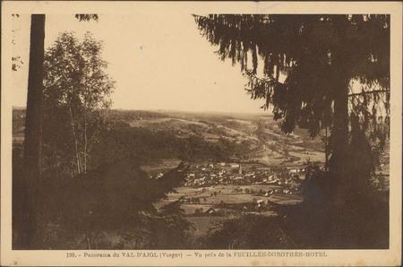 Panorama du Val d'Ajol (Vosges), Vu près de la Feuillée-Dorothée-Hôtel