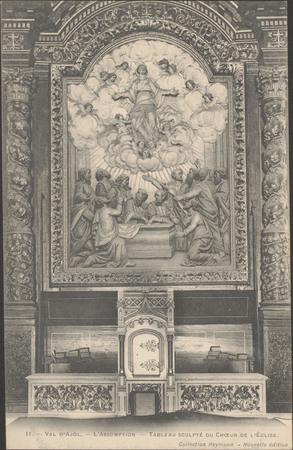 Val d'ajol, L'Assomption, Tableau sculpté du chœur de l'Église