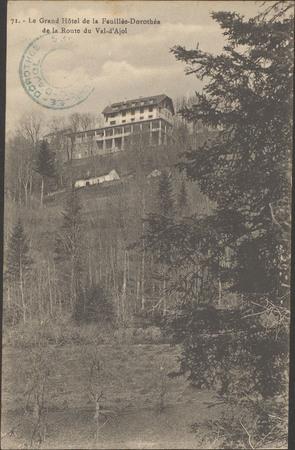 Le Grand Hôtel de la Feuillée-Dorothée de la route du Val d'Ajol