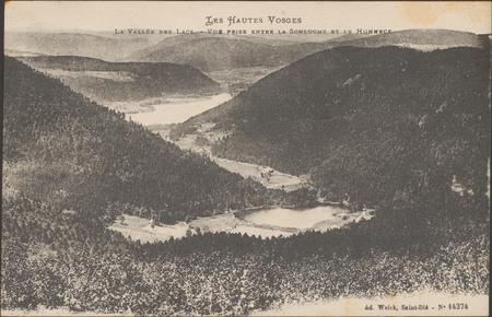 La Vallée des lacs, Vue prise entre la Sclucht et le Hohneck