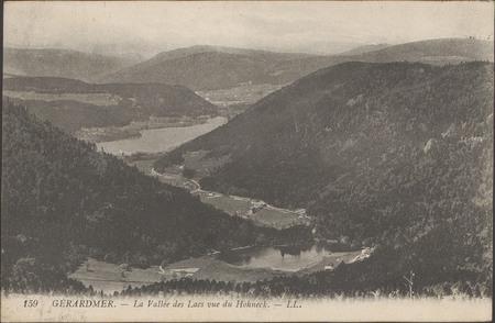 Gérardmer, La Vallée des lacs vue du Hohneck