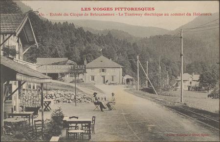Entrée du cirque de Retournemer, Le Tramway électrique au sommet du Hohneck