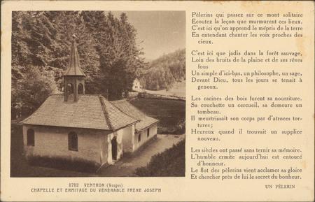 Ventron (Vosges), Chapelle et Ermitage du Vénérable Frère Joseph […]
