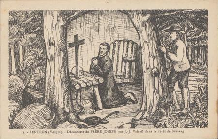 Ventron (Vosges), Découverte de Frère Joseph par J.-J. Valroff dans la for…