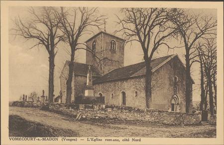 Vomécourt-s.-Madon (Vosges), L'Église romane, côté Nord