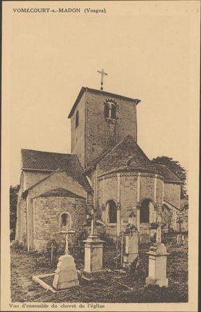 Vomécourt-s.-Madon (Vosges), Vue d'ensemble du chevet de l'église