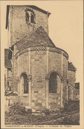 Vomécourt-s.-Madon (Vosges), L'Abside de l'Église