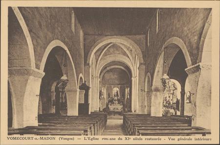 Vomécourt-s.-Madon (Vosges),L'Église romane du Xie siècle restaurée, Vue g…