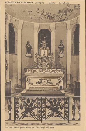 Vomécourt-s.-Madon (Vosges), Église, Le Chœur […]