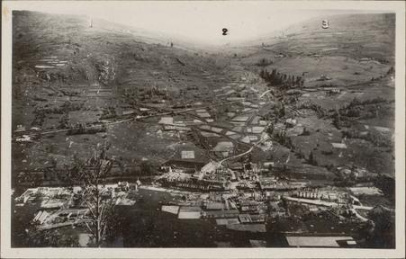 [La Bresse, Vue générale après les destructions de la Seconde Guerre mondi…