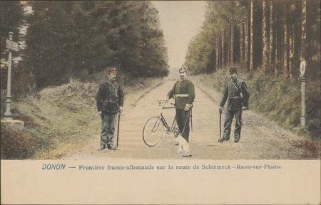 Donon, Frontière franco-allemande sur la route de Schmirmeck, Raon-sur-Pla…