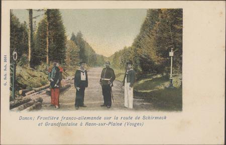 Donon, Frontière franco-allemande sur la route de Schmirmeck et Grandfonta…