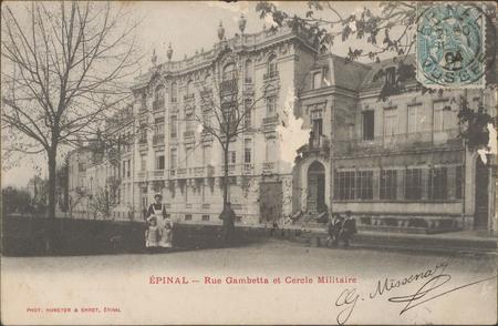 Épinal, Rue Gambetta et Cercle militaire