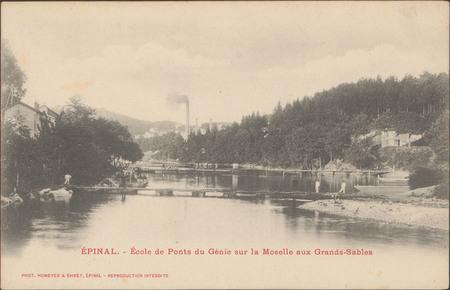Épinal, École de Ponts du Génie sur la Moselle aux Grands-Sables