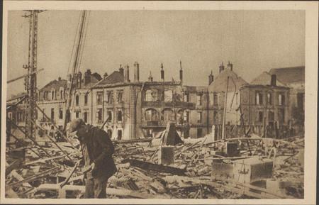 Épinal, La Gare après les bombardements de la Seconde Guerre mondiale]