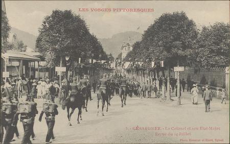 Gérardmer, Le Colonel et son Etat-Major, Revue du 14 juillet
