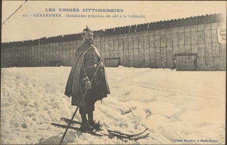 Gérardmer, Gendarme prussien en ski à La Schlucht