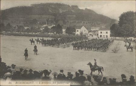 Remiremont, L'Artillerie (14 juillet) vue du Parm[?]