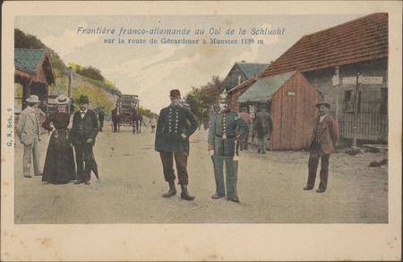 Frontière franco-allemande au Col de La Schlucht sur la route de Gérardmer…
