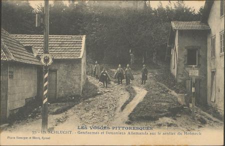 La Schlucht, Gendarmes et douaniers allemands sur le sentier du Hohneck