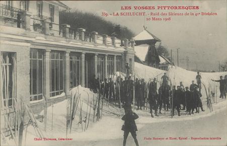 La Schlucht, Raid des skieurs de la 41e division - 20 Mars 1909
