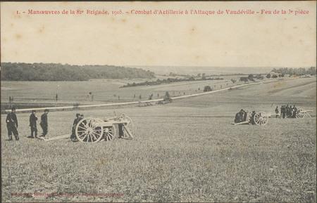 Manœuvres de la 82e Brigade, 1905, Combat d'Artillerie de Vaudéville, Feu …