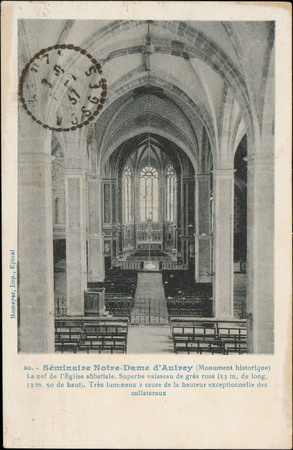 Séminaire Notre-Dame d'Autrey (monument historique), La Nef de l'Église ab…