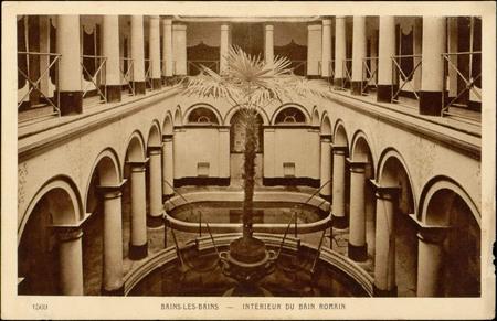 Bains-les-Bains, Intérieur du bain romain