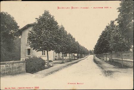Bains-les-Bains (Vosges), Altitude 306 m., Avenue Bailly