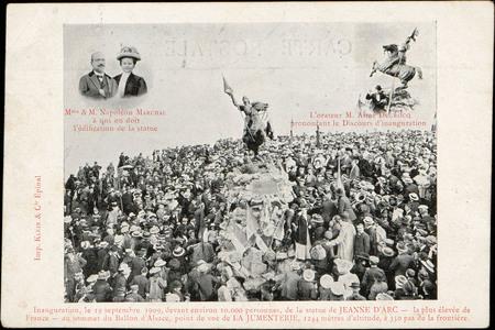 Inauguration, le 19 septembre 1909, devant environ 10.000 personnes, de la…