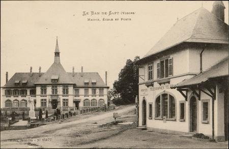 Ban-de-Sapt (Vosges), Mairie, Écoles et poste