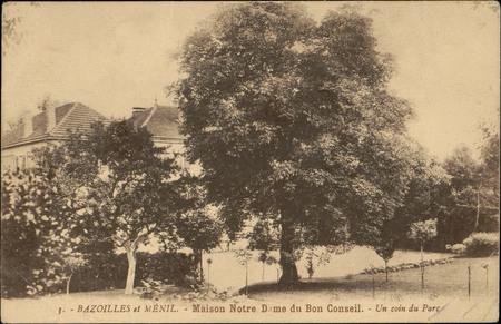 Bazoilles et Ménil, Maison Notre Dame du Bon Conseil, Un Coin du Parc