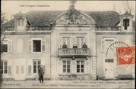 Bazoilles-sur-Meuse, Hôpital militaire temporaire, 1914-1915